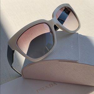 PRADA, Rare SPR07P White/Black Sunglasses